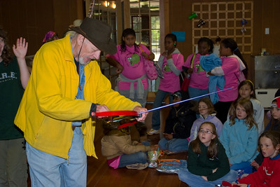 """The archery instructor.  The noise in the dining room was deafening so we could not really hear anything besides """"don't point it at anyone""""."""