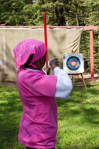 Mary at the range.