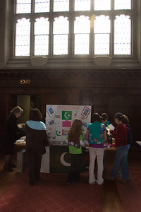 Inside one of the halls of Bryn Mawr College where the event was held.