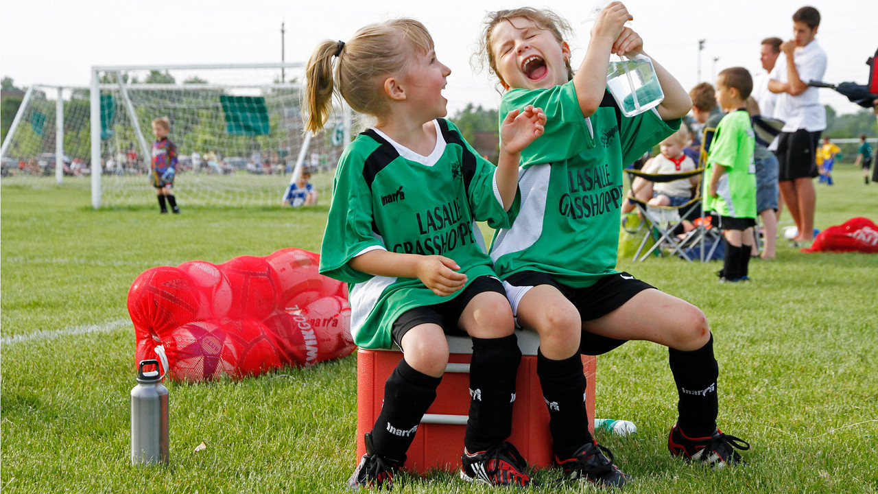 Slideshow-video of pictures of our 6-year old granddaughters Christina and Taylor, in another exciting soccer game.<br /> <br /> CLICK on picture to play