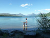 In front of our room at Lake McDonald, Glacier N.P.