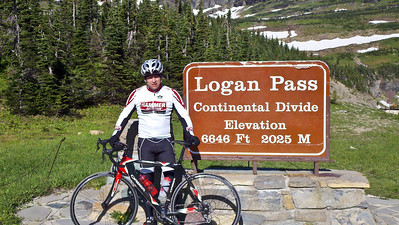 At the top of the pass. 60 miles and 6K worth of climbing. Awesome adventure,