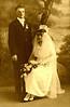 1919 Alvin & Ellen Hanson Dehlin - Wedding Picture - 1919