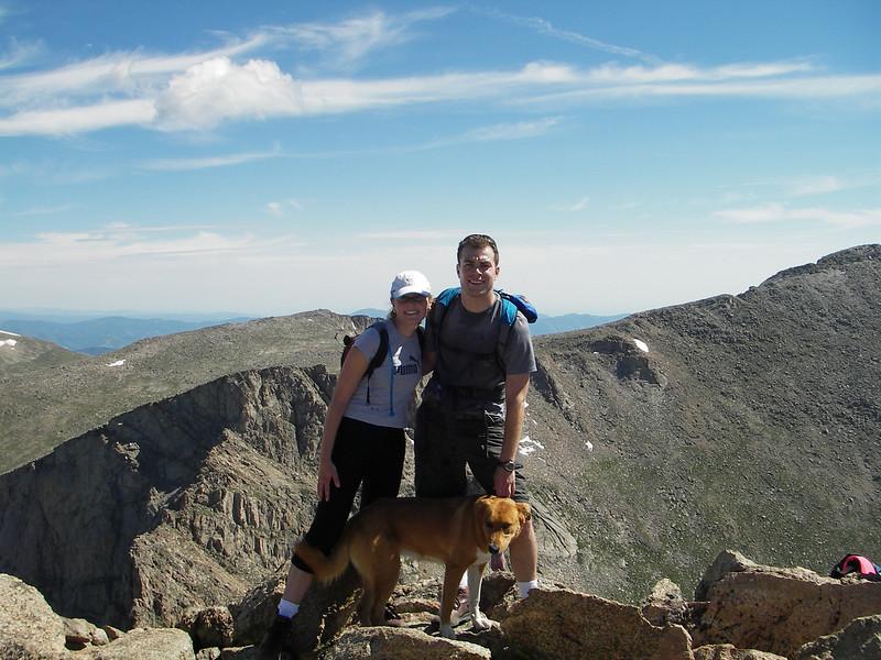 At the top of Mount Bierstadt in Colorado. 14,065 feet.