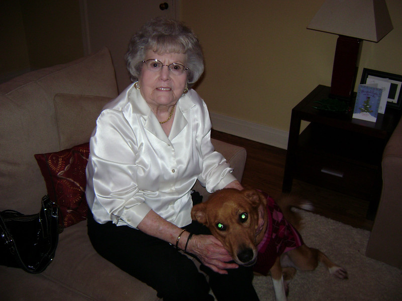 Grandma Dot and Sam in Tulsa.