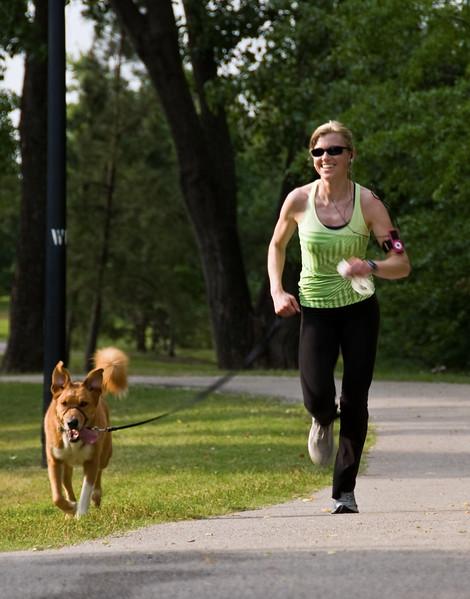 Running in Maple Ridge in Tulsa.