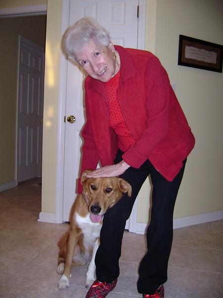Grandma Calabro and Sam.
