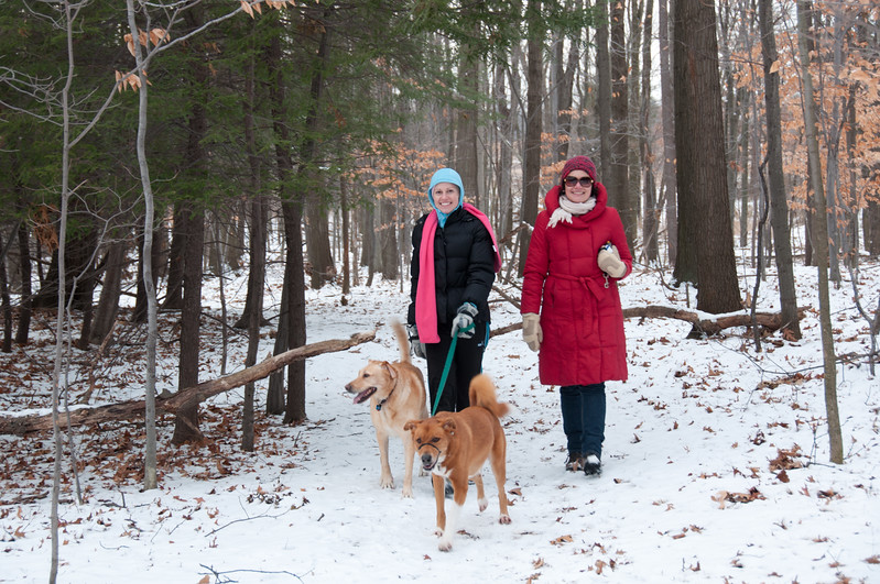 Hiking in Cleveland with Amy and Beyla.