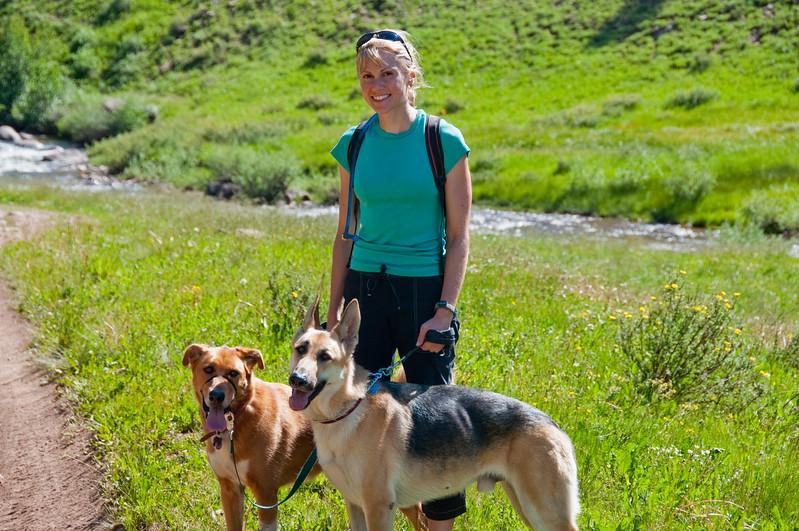 Hermosa Creek Hike in Durango while Frank and I rode bikes.