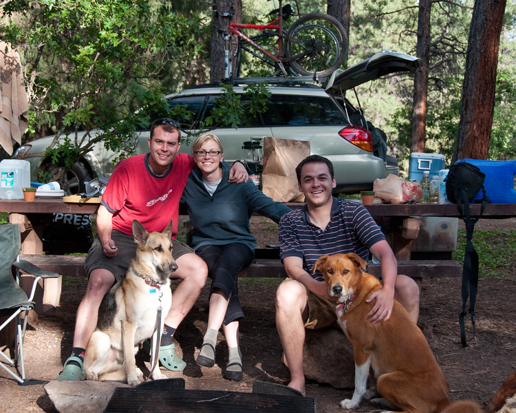 Camping in Durango with Uncle Frank.