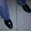 """Stylin' footwear to go along with the denim """"tux"""".  Picture shot with a couple of my sisters in mind :-)."""