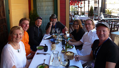Dinner with Utah friends: Annette, Graeme, Gordon, Rob, May, Guido, and John!