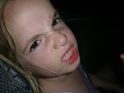 Violet mean face.