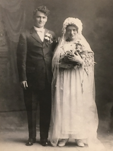 Martin Govednik and Mary (Skufca) Govednik on their wedding day.