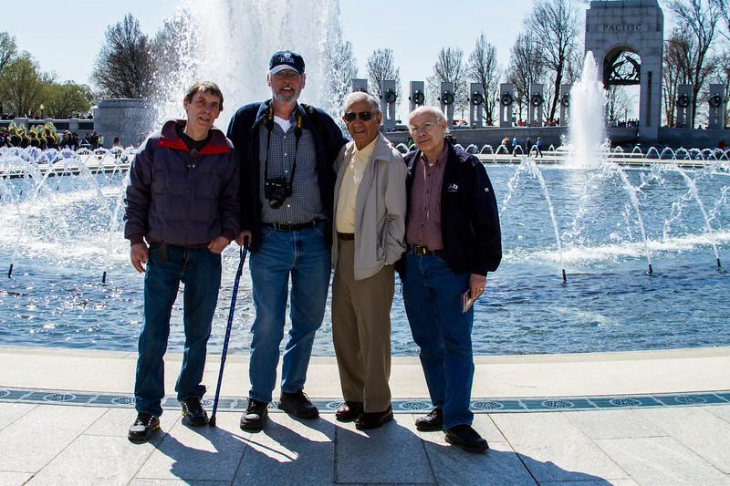 Joseph Cavato at the World War II Memorial in Washington, DC