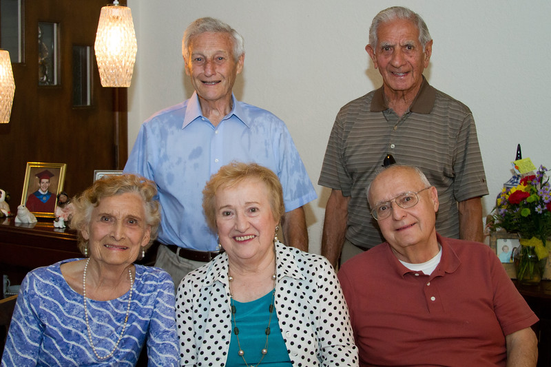 "Back row:  William Colonna (husband of Lorraine (Govednik) Colonna, Joseph Cavato (husband of Bernadine (Govednik) Cavato.  Front row:  Helen (Govednik) Talarico, Lorraine ""Lovey"" (Govednik) Colonna and Richard Govednik (son of Martin and Mary (Skufca) Govednik."