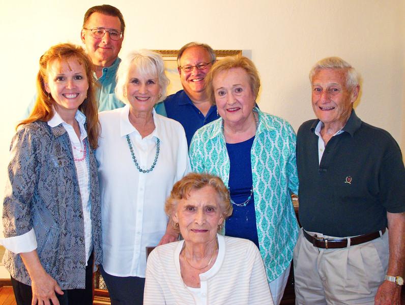 Cindy Cavato (Marty's wife), Tom Talarico, Jeanne Talarico, Bill Colonna, Lorraine (Govednik) Colonna, Bill Colonna, Helen (Govednik) Talarico (seated)