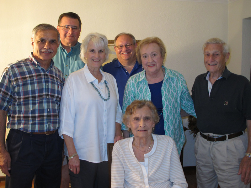 Marty Cavato (son of Bernadine Govednik), Tom Talarico (son of Helen Govednik), Jeanne Talarico (Tom's wife), Bill Colonna (son of Lorraine (Lovey) Govednik), Lorraine (Govednik) Colonna, Helen (Govednik) Talarico (seated), Bill Colonna (husband of Lorraine Colonna.