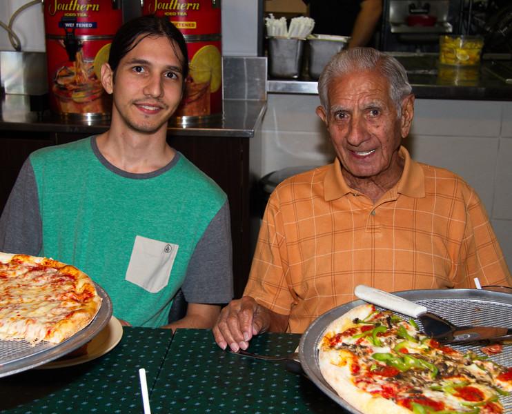 Nick Cavato (Marty's son) with his grandfather Joseph Cavato