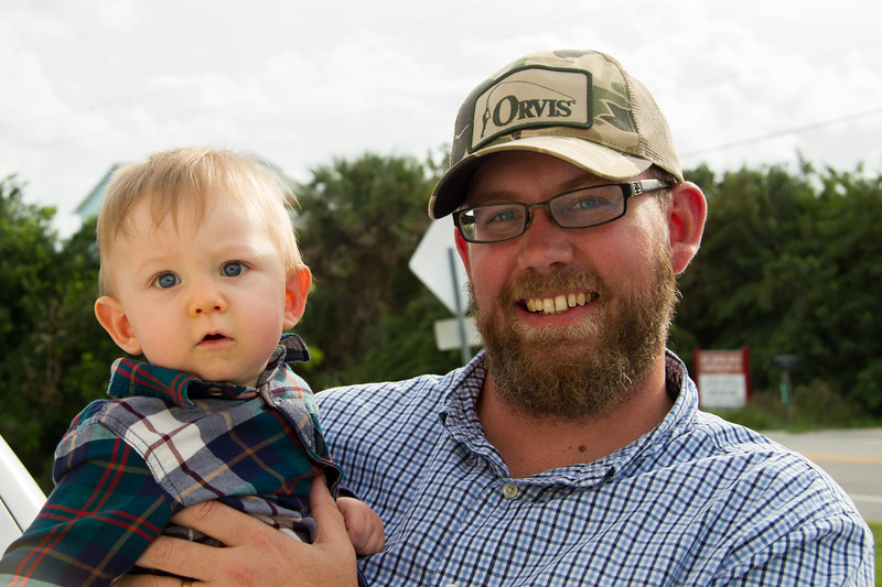 Andrew Mizell (Courtney's husband) and Fynn.  Andrew is husband of Cindy's daughter Courtney.