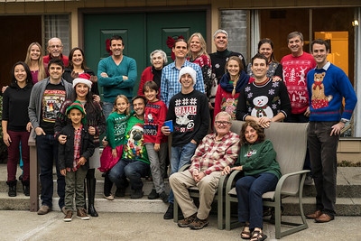 Gathering in Oakland to celebrate Christmas as a family, Goyne around the table.