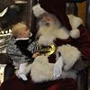 Grace and Santa having a heart to heart.