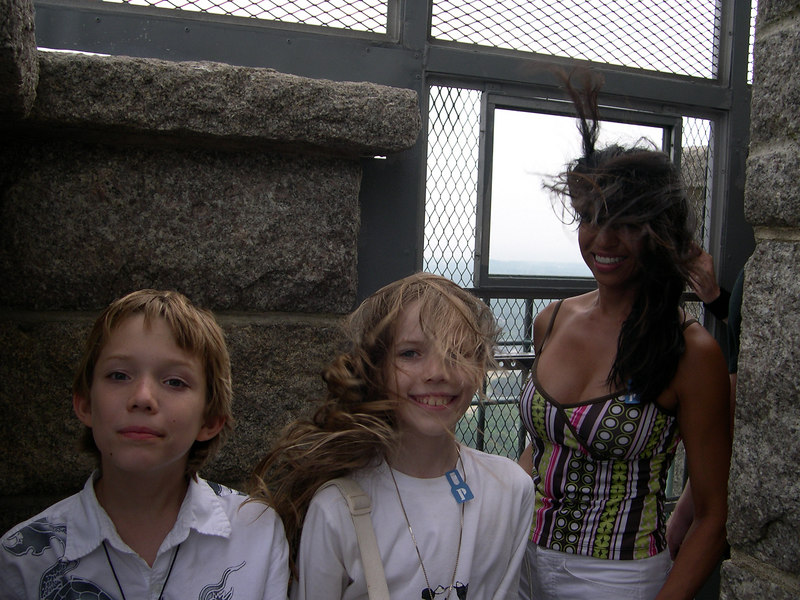 Grace, her brother Chance, and her aunt on their yearly visit to Cape Cod in the pilgrims tower summer of 2005.