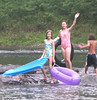 Grace, Jesic, and Chances friend Cameron in the falls in West Virginia in August 2006.