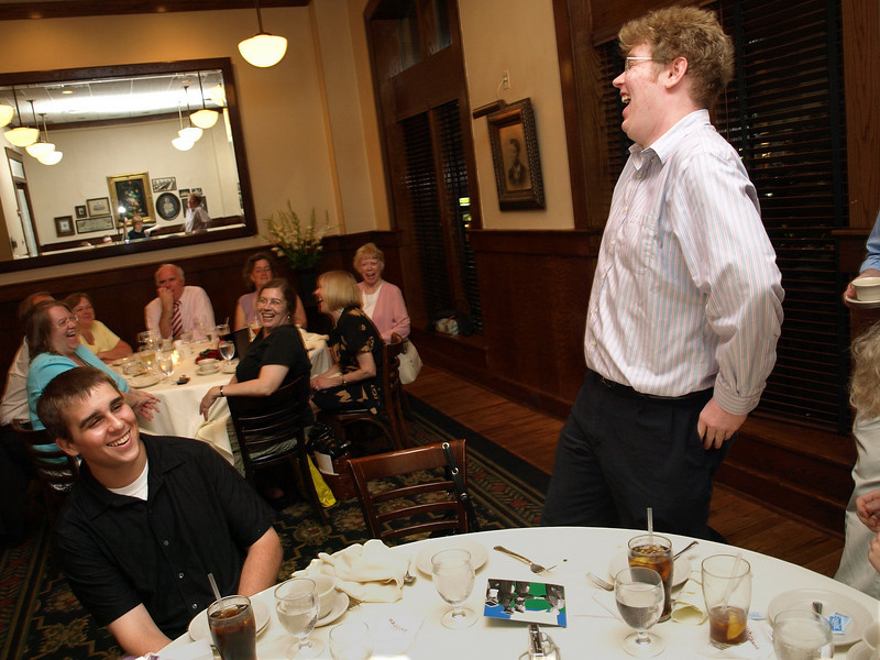 Speech Speech! Archie and Samantha's graduation dinner, Maggiano's Little Italy, Bethesda, MD, June 6, 2008.