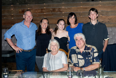 Seated: Marge and Paul, Standing: Greg, Caroline, Cheyenne, Wendy and Conrad