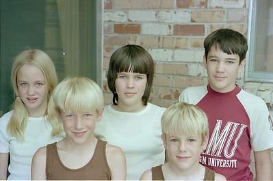 Betsy, Patrick, Kathy, Andrew and John Kane, Garland, Texas, July 1974