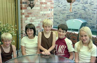 Patrick, Kathy, Andrew, John and Betsy Kane, Garland, Texas, July 1974