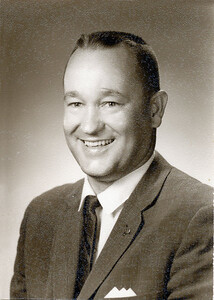 """Portrait of Grady Kane taken in Killeen in 1966 when he was included in a book: """"Outstanding Young Men of America."""" The picture is not in the book but I think it was taken for an article for the paper."""