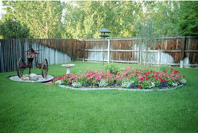 Grady and Mary Clare Kane's backyard on E. Costilla Circle, Centennial, Colorado, June 1990