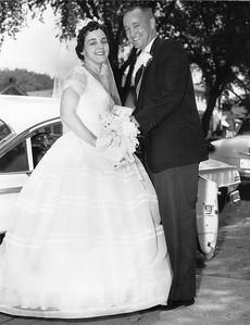 Grady Kane and Mary Clare Galligan's Wedding, July 16, 1960, Holy Spirit Catholic Church, Saint Paul, Minnesota.