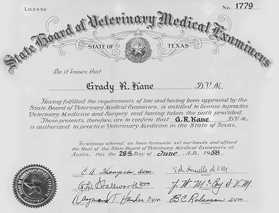 Veterinary License