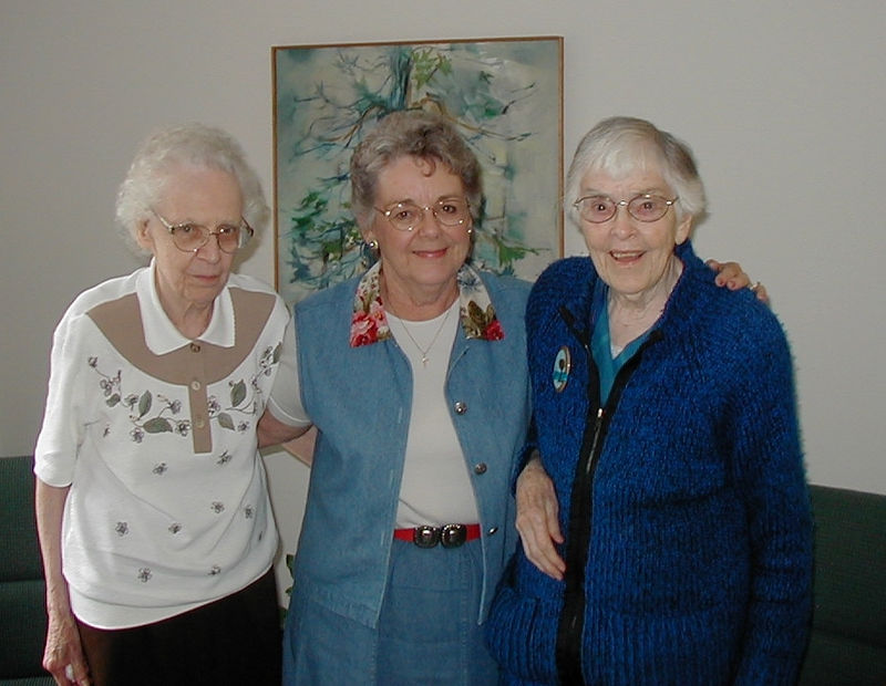 We visited Sister Margaret Louise (John Galligan's cousin) and  Sister Ada Marie (Mary Clare's Derham Hall High School Principal) in Bethany Convent, Sept. 2004.
