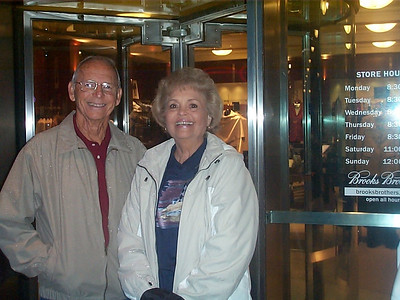 Richard and Margaret Moody - one of five couples on the Nova Scotia Cruise out of NY with us in mid-October, 2004.  All five of the men graduated from Roy Miller High School in 1951.