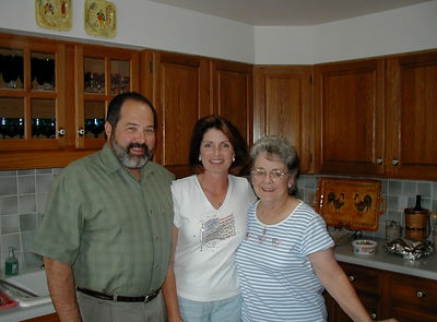 Bret and Gayle Combs visit us in our new home, July 2004.