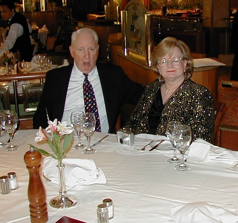 Bill and Kathy Roberson -  one of five couples on the Nova Scotia Cruise out of NY with us in mid-October, 2004.  All five of the men graduated from Roy Miller High School in 1951.