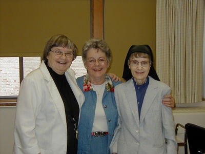 Mary Clare and I visiting Sister Marie Shaun (Cousin Annie) and  Sister Rose Immacula  at St. Joseph's School of Music in Sept. 2004.