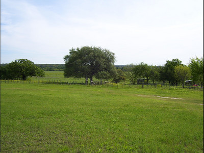 """April 11-19, 2007; trip to Bandera, Texas, for Class of 1951 High School Reunion at Flyin L Guest Ranch.  About 60 classmates, spouses, and friends were in attendance.   Looking to the River from the old """"parking lot"""" -  4-15-07, near the Lampasas River on the Oakalla Road."""