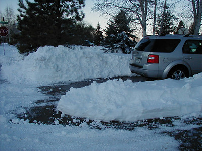 After digging out.
