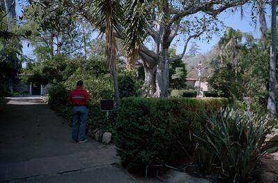 Grady Kane at Santa Barbara Mission, Santa Barbara, California, October 1989