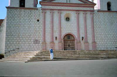 Mary Clare Kane at Santa Barbara Mission, Santa Barbara, California, October 1989