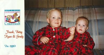 Ryan and Grady Roth, Christmas 1990, Lockwood, California