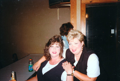 Sherry(?) and Cindy. Celebrating Cindy Kane's August 6th birthday, Denison, Texas, August 10, 1998