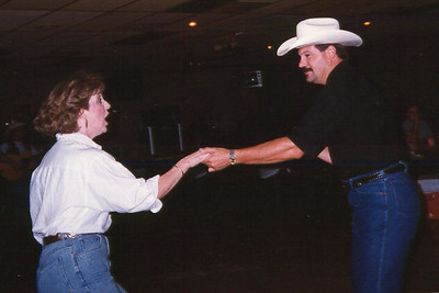 Cheryl Giacomazzi and Tim Quintana. Celebrating Cindy Kane's August 6th birthday, Denison, Texas, August 10, 1998