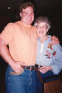 DaruthyeJones Kennemer andBlake Vardell. Celebrating Cindy Kane's August 6th birthday, Denison, Texas, August 10, 1998