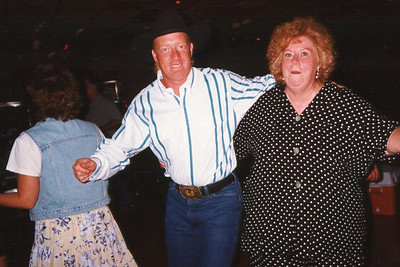 Robert and Myra. Celebrating Cindy Kane's August 6th birthday, Denison, Texas, August 10, 1998